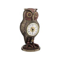 Steampunk laikrodis - pelėda