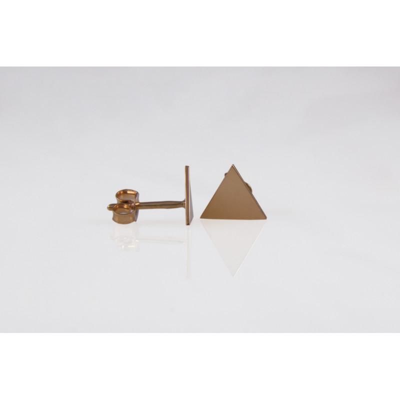 Auksiniai auskarai - trikampiai