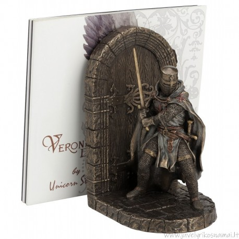 Knygų laikiklis su riteriu