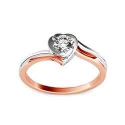 """Sužadėtuvių žiedas su 0,150ct deimantu """"Etos 1"""""""