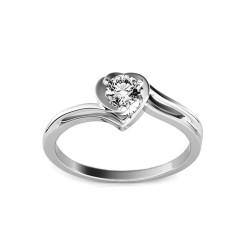"""Sužadėtuvių žiedas su 0,150ct deimantu """"Etos 1 White"""""""