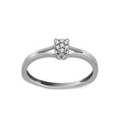 """Sužadėtuvių žiedas su 0,030ct deimantu """"Elinor 8"""""""