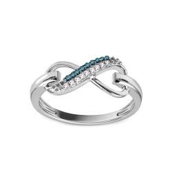 """Sužadėtuvių žiedas su 0,070ct deimantu """"Infinity"""""""