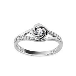 """Sužadėtuvių žiedas su 0,180ct deimantu """"Rose 1"""""""