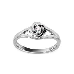 """Sužadėtuvių žiedas su 0,080ct deimantu """"Rose"""""""