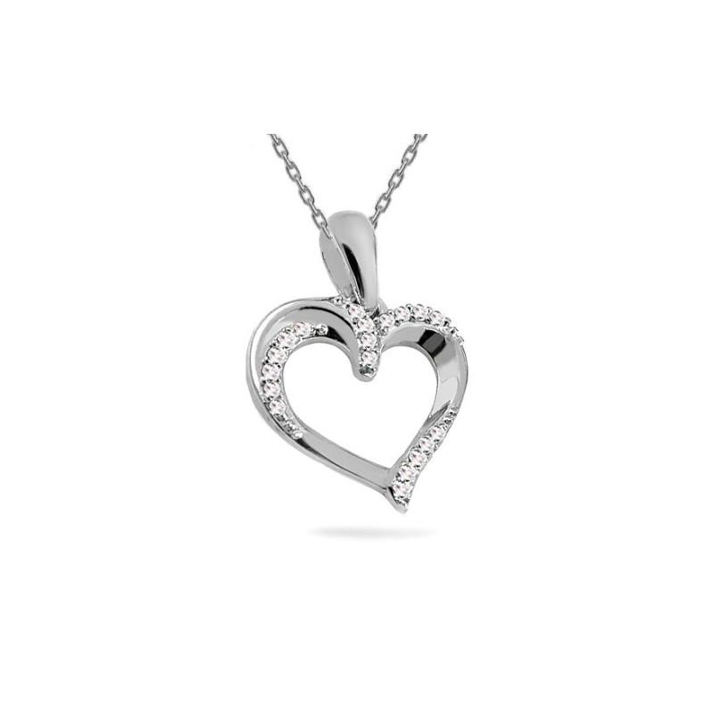 """Auksinis pakabukas su 0,050ct deimantu """"Širdelė"""""""