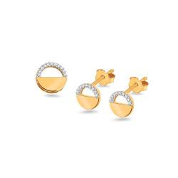Auksinis rinkinys su 0,120ct deimantais