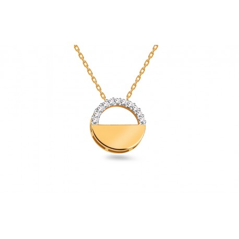 Auksinis pakabukas su 0.060ct deimantais