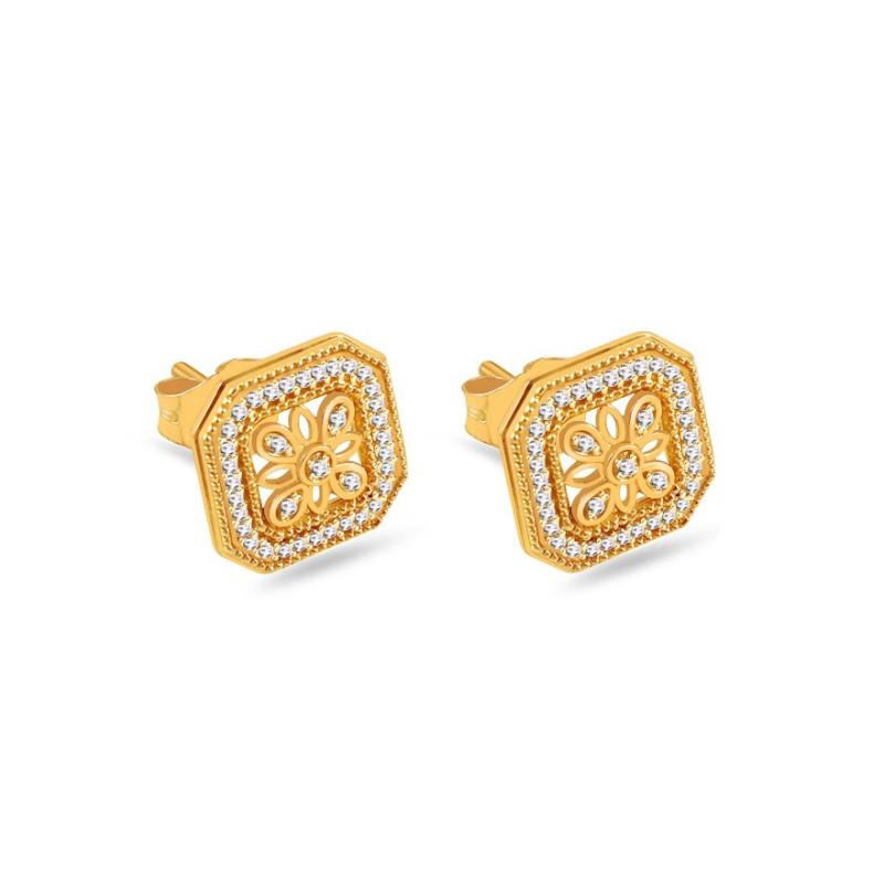 Auksiniai auskarai su 0,110ct deimantais