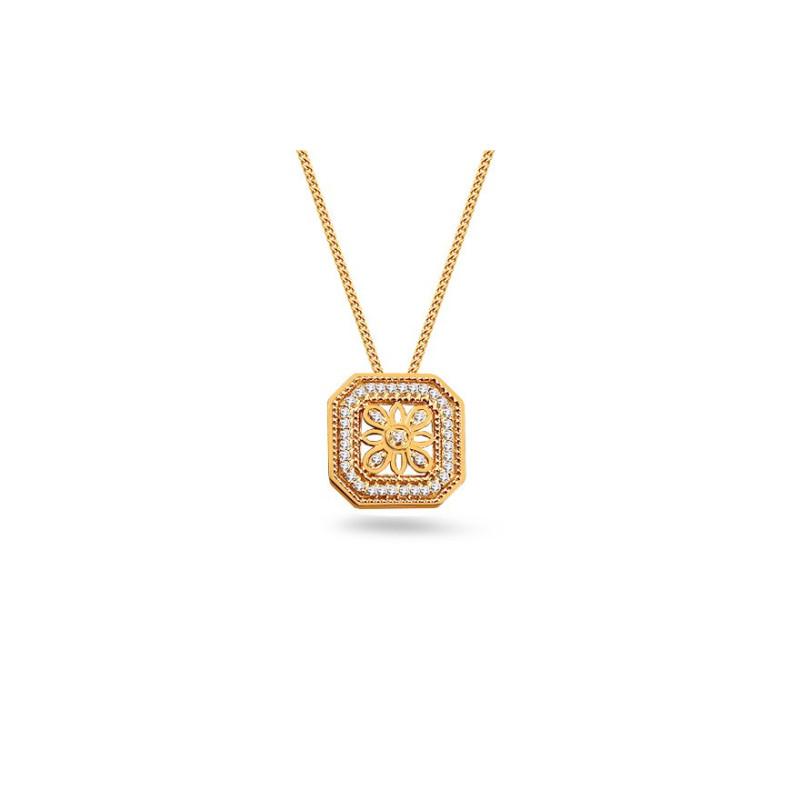 Auksinis koljė su 0,080ct deimantais