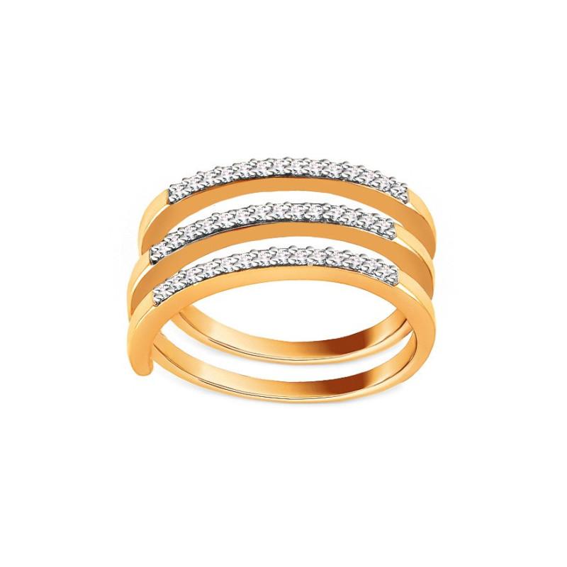 Auksinis žiedas su 0,250ct deimantais