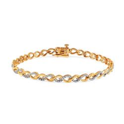 Auksinė apyrankė su 0,250ct deimantais