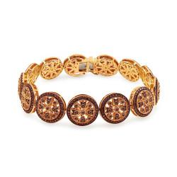 Auksinė apyrankė su 3,890ct šampano spalvos deimantais