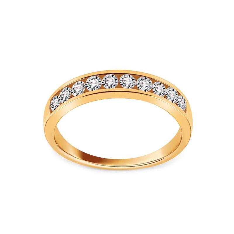 Auksinis žiedas su 0,070ct deimantais