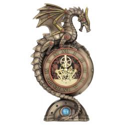 Steampunk Laikrodis su Drakonu