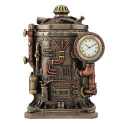 Steampunk - stalo laikrodis su dėžute