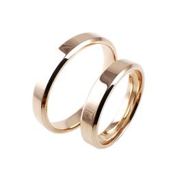 Raudono aukso vestuviniai žiedai