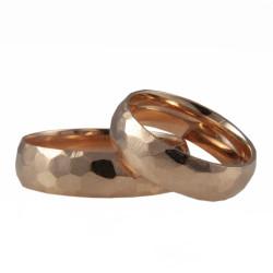 """Raudono aukso vestuviniai žiedai """"Korys"""""""