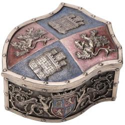 Dėžutė su Liūto ir Pilies herbu