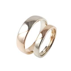 Raudono ir balto aukso vestuviniai žiedai