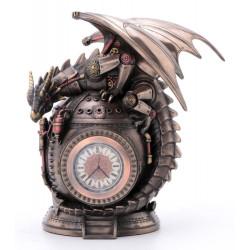 Steampunk drakonas ant laikrodžio. Veronese kolekcija