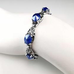 Sidabrinė apyrankė su London Blue cirkoniais 20 - 24,5 cm