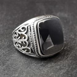 Sidabrinis žiedas su hematitu 20,2 mm