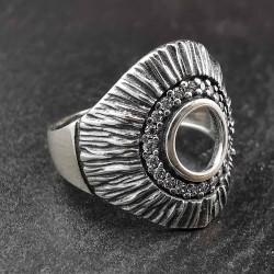 Sidabrinis žiedas su cirkoniais 18,5 mm