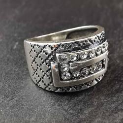 Sidabrinis žiedas su cirkoniais 17,5 mm