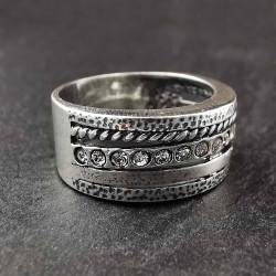 Sidabrinis žiedas su cirkoniais 19,5 mm