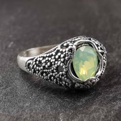 Sidabrinis žiedas su cirkoniu 19 mm