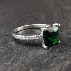 Sidabrinis žiedas su cirkoniais 18 mm