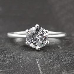 Sidabrinis žiedas su cirkoniu 17,2 mm