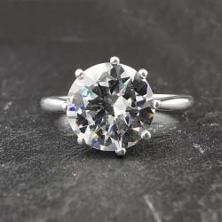Sidabrinis žiedas su cirkoniu 18 mm