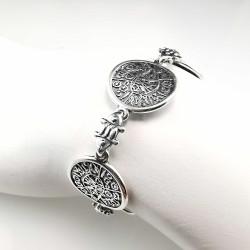 Gnostinis amuletas - sidabrinė apyrankė 19 cm