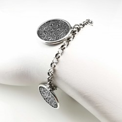 Gnostinis amuletas - sidabrinė apyrankė 18 cm