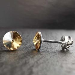 Sidabriniai auskarai su swarovski kristalu