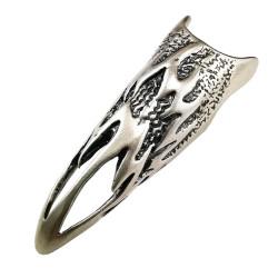 Sidabrinis nago žiedas