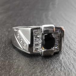 Sidabrinis žiedas su cirkoniu 20 mm