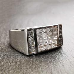 Sidabrinis žiedas su cirkoniu 20,8 mm