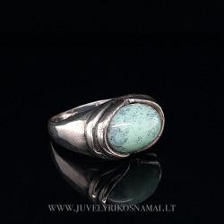 Sidabrinis žiedas su turkiu 18,5 mm