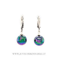 Sidabriniai auskarai su Maljorkos perlais