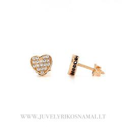 """Auksiniai auskarai - vinukai """"Širdelė"""""""