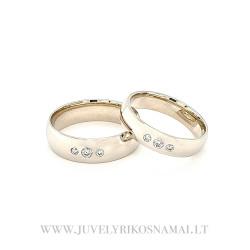 Natūralaus balto aukso vestuviniai žiedai
