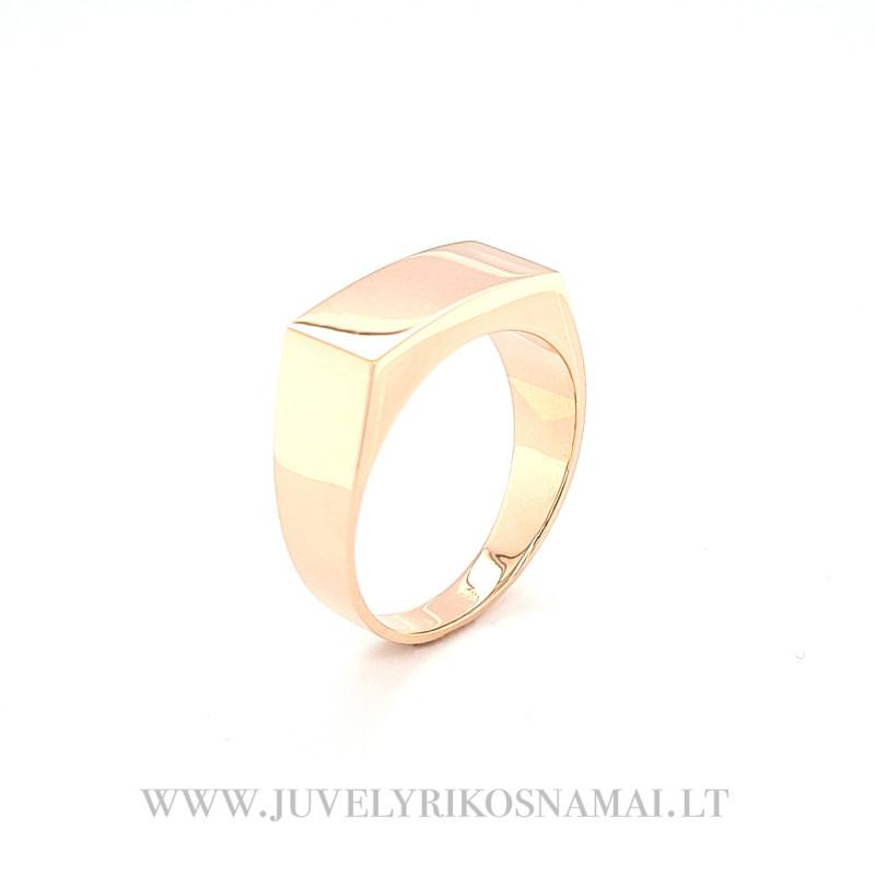Raudono aukso vyriškas žiedas